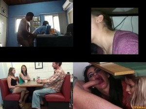 Under Table Blowjobs And Secretaries Earning Promotions Compilation