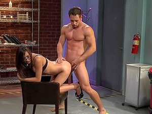 Muscular Man Shows This Asian Babe Proper Office Anal Pleasure