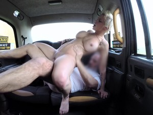 Busty Woman Ends Up Riding The Taxi Driver After A Good Blowjob