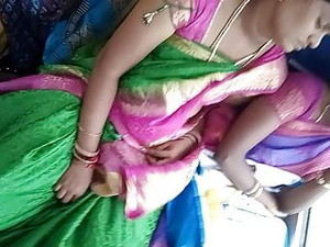 Tamil Hot Young Married Aunty Boobs And Navel In Bus Part:2