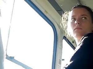 Girl Looks At A Dick For A Long Time In A Tram