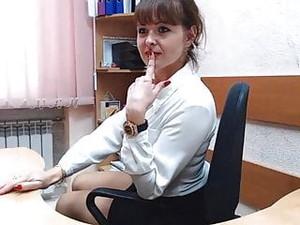 熟れた,オフィス,ロシア人のポルノ,ウェブカメラ