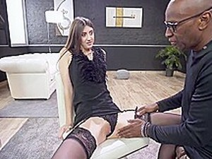 Teen In Lingerie And Heels ANAL Drilled By BBC