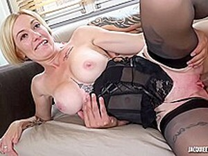 Wealthy Blonde Mature, Clarisse Is Often Fucking Her Lover, While Her Husband Is At Work