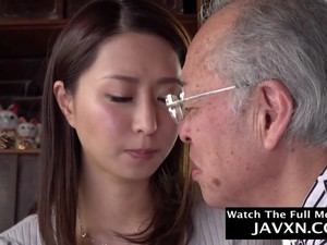 Japanese MILF Helps Grandpa