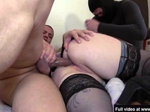 Lucie's Husband Shares Her In A Gangbang