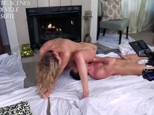 Sensual Suite -Cherie DeVille & Laz Fyre Passionate Oiled Sex BTS