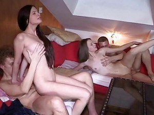 Bright Orgasms During Group Sex
