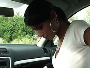 Hot Amateur Girl Bent Over The Car And Fucked Till Cumshot