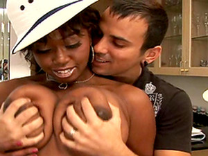 Rough Sex With A Big Cock For An Ebony Babe With Huge Tits