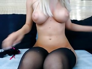 Blond Big Natural Boobs Nipples Shaved Puffy Cameltoe Pussy