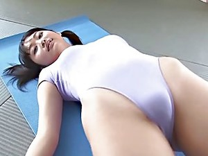 Puffy Japanese Pussy In Swimsuit