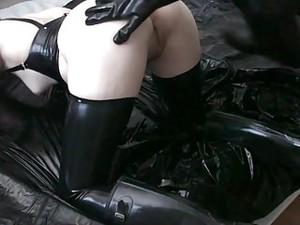 Rubber Fucking Female Slave