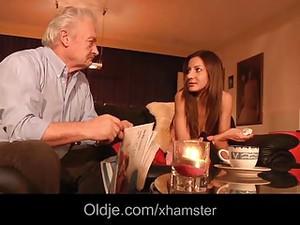 Oldman Fucks Sexy Young Babe Deep Anal