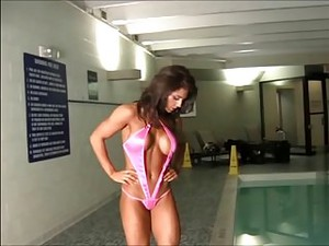 Kaitlyn Posing Poolside In A Revealing Swimsuit