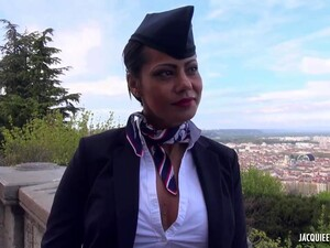 Lyonnaise Is A Flight Attendant Who Is Always In The Mood For Sex With Pilot
