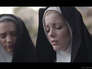 Two Sinful Nuns Are Licking Each Others Pussies For The First Time