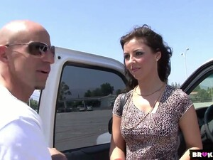 Hungarian Brunette Maria Bellucci Gets Intimate With One Stranger Bald Headed Dude