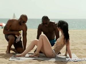 Slutty Tattooed Chick Alessa Savage Hooks Up With Two Black Dudes