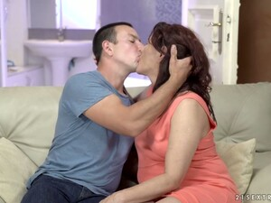 Old Nanny Red Mary Has An Affair With Hot Blooded Young Dude