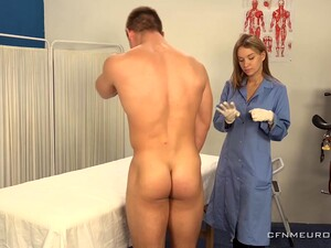 A Big Guy Submits To Prostate Exam And His Sexy Doctor Wants To Finger His Ass