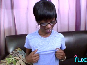 Ugly Black Chick In Glasses Gives A Legendary Deepthroat Blowjob