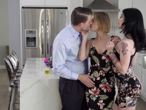 Young Wife Invites Sexy Colleague Rosalyn Sphinx For Threesome Sex