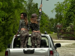 Threesome With Attractive Army Girls Penelope Cum And Zoe Doll