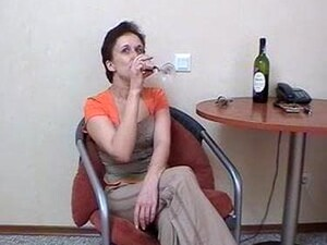 Russian Stepmother Fucked Drunk