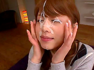 Nothing Can Make Akiho Happier Than A Nice Little Facial Cumshot