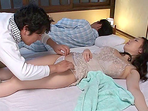 Naughty Wife Bangs A Guy As The Husband Sleeps