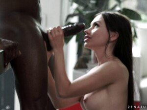 Sexy Sasha Rose Spreads Her Legs And Takes On The Black Cock