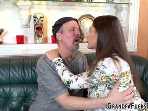 Teen Pounded By Grandpa