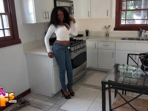 Ebony Sweetie Honey Droppz Pleases A Friend By Screwing With Him