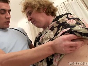 Slutty Granny Gets Fucked And Creampied In The Bedroom