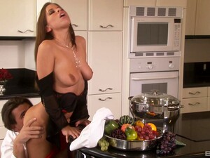 Cheating Wife Haley Paige Drops Her Panties To Have Sex In The Kitchen