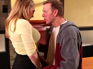 Busty Whore Gets Drilled Really Hard In The Office