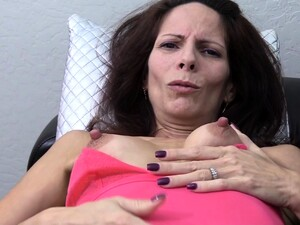 Classy MILF With Hard Nipples Finger Fucks
