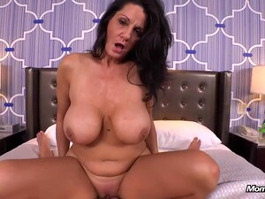Experienced Brunette With Massive Milk Jugs Is Riding A Rock Hard Cock, Free Of Any Charge
