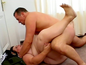 BBW Mature Slut Fucking Hardcore Her Muscled Husband