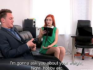 Redhead Dame With Natural Tits Gets Her Anal Feasted In A POV Shoot
