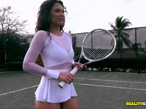 Stunning Tennis Chick Jessica Torres Rides Hard Dick Reverse And Face To Face