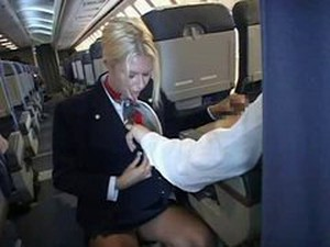 Real Stewardess Blowjob