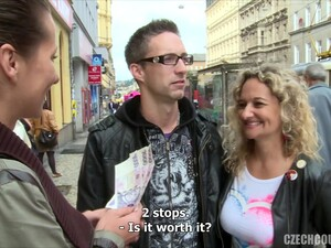 Young Czech Couple Interviewed On The Street