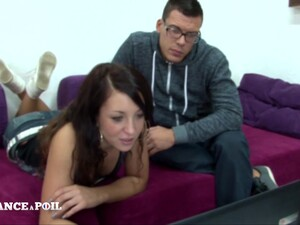 La France A Poil - Pretty Small Titted Brunette Student