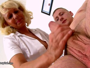 Blonde Granny, Koko Blond Is Working As A Doctor And Often Rubbing Rock Hard Dicks