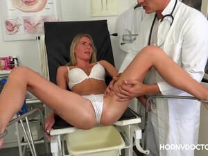 Fresh Blonde Girl, Claudia Macc Is Often Fucking Her Doctor In His Office, Because She Likes Him