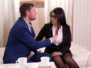 Big Titted Brunette, Kesha Ortega Likes To Get Fucked From The Back, In Her Office