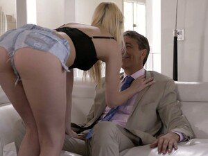 Sizzling Blond Hottie Kenna James Seduces Her Step Daddy