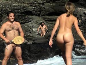 Carol Goldnerova Sexy Beach Striptease